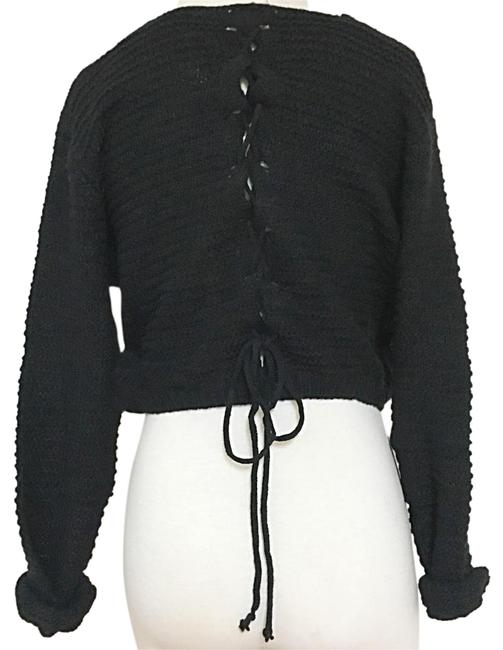 e972f07981 durable modeling LF Lace Up Tie Crop Knit Sweater - 43% Off Retail ...