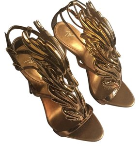 Giuseppe Zanotti Metallic bronze (gold) Formal