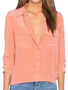 Equipment Button Down Shirt Peach