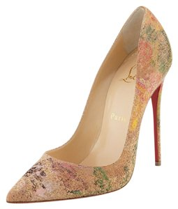 Christian Louboutin Sokate Louboutin Cork Brandnew Inbox Multi Pumps