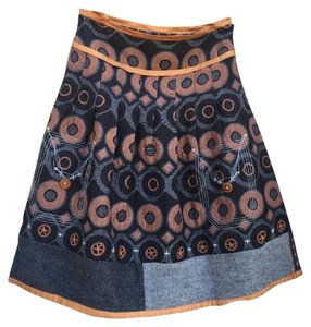 Tricot chic Skirt Gray and orange