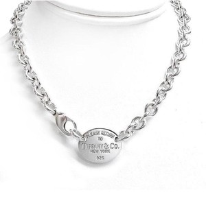 Tiffany & Co. Oval Tag Return To Tiffany Necklace Made In Sterling Silver By Tiffany And Company!!! 15