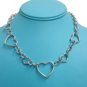 Tiffany & Co. Open Heart Round Link Necklace By Tiffany!!! Very Unique. Sterling Silver. Properly Signed And Hallmarked!!!