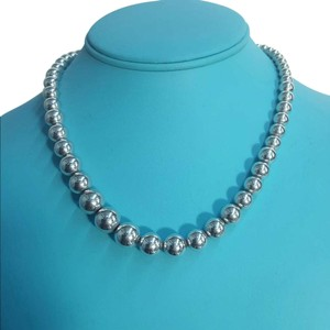 Tiffany & Co. Tiffany And Company Graduated Bead Necklace In Sterling Silver. 16