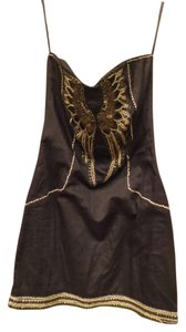 French Connection Leather Wings Dress