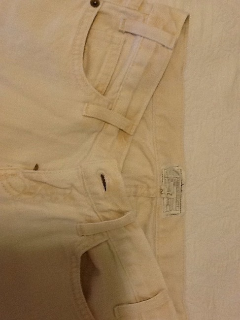 Current/Elliott Cotton Machine Washable Made In Usa Capri/Cropped Denim-Light Wash Image 1
