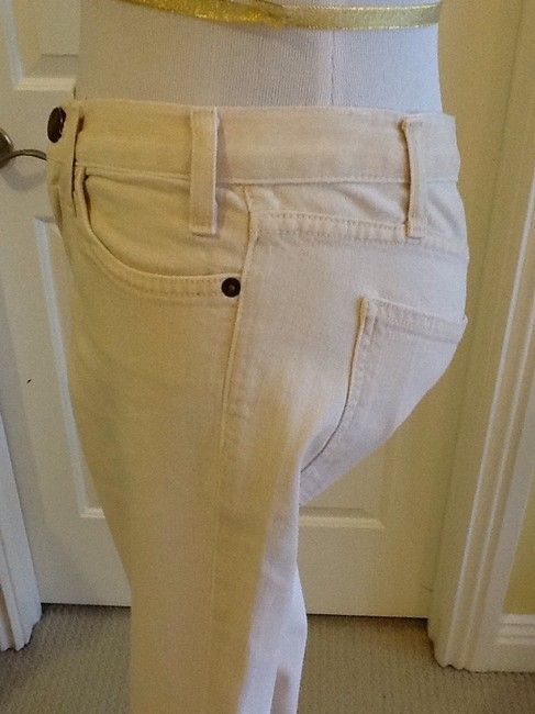 Current/Elliott Cotton Machine Washable Made In Usa Capri/Cropped Denim-Light Wash Image 4