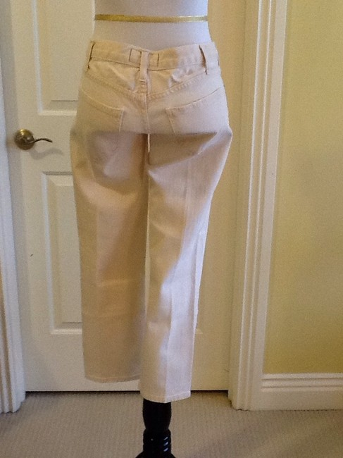 Current/Elliott Cotton Machine Washable Made In Usa Capri/Cropped Denim-Light Wash Image 6