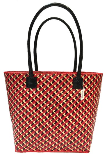 Tory Burch Tote in Red White Black