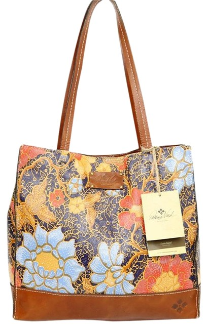 Item - Toscano Exotic Island Midnight M265-24 B260 Multicolor Leather Tote