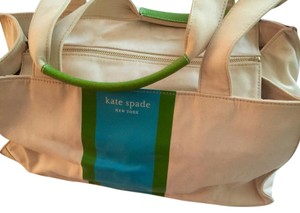 Kate Spade Satchel in Cream / Green / Blue
