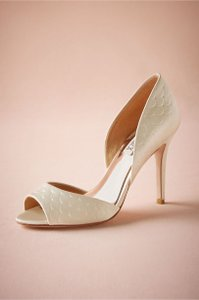 Badgley Mischka Pressed Scallop D'orsay Heels (style #34836049) Wedding Shoes