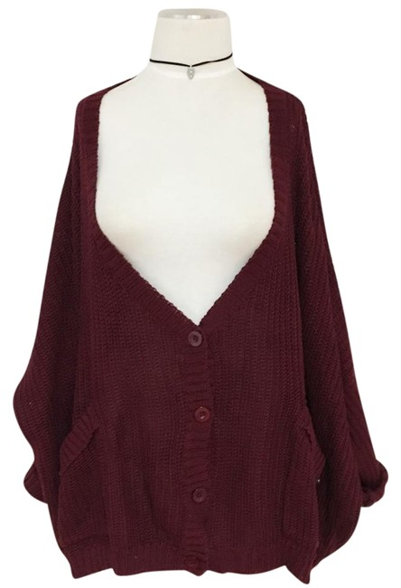 Preload https://img-static.tradesy.com/item/20230081/lf-burgundy-oversized-loose-slouch-pockets-button-up-knit-sweater-cardigan-size-4-s-0-1-650-650.jpg