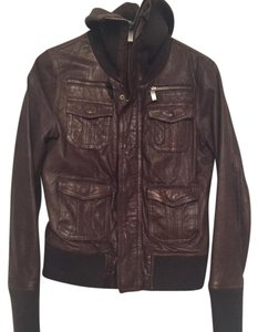 LINE Leather Bomber Gunmetal Leather Jacket