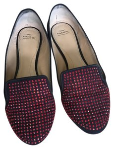 Zara Black with red stones Flats