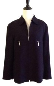 Escada Made In Germany Pure New Wool Dryclean Only Rayon Lining black Jacket
