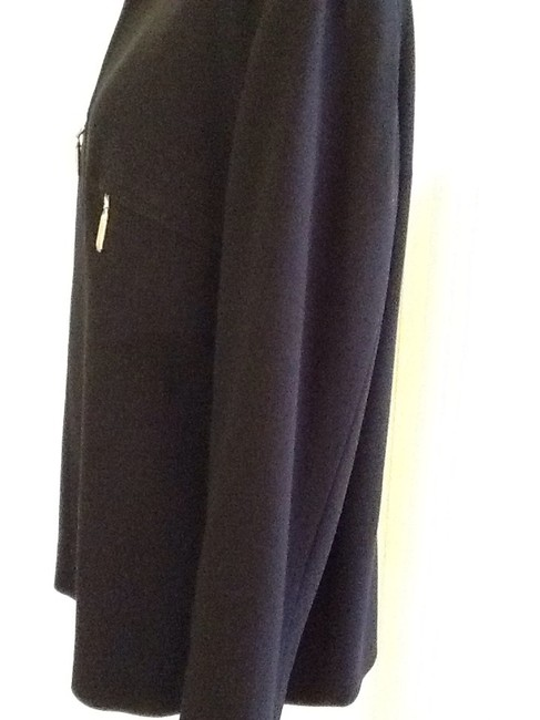 Escada Made In Germany Pure New Wool Dryclean Only Rayon Lining black Jacket Image 2