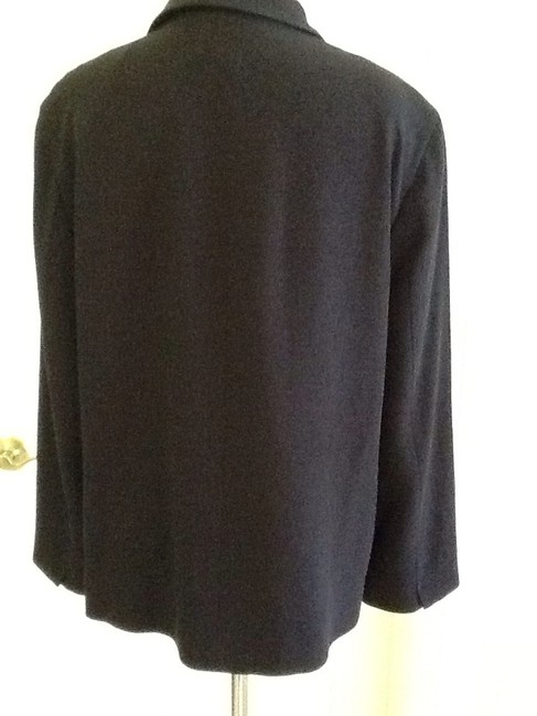 Escada Made In Germany Pure New Wool Dryclean Only Rayon Lining black Jacket Image 3