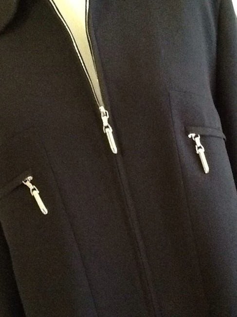 Escada Made In Germany Pure New Wool Dryclean Only Rayon Lining black Jacket Image 4