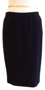 sieve fabricant neiman marcus 75% Wool 25% Rayon Dryclean Only Made In Usa Skirt black