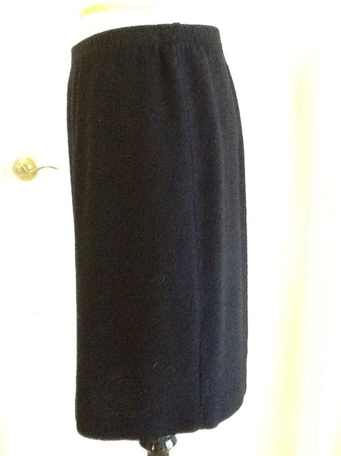 sieve fabricant neiman marcus 75% Wool 25% Rayon Dryclean Only Made In Usa Skirt black Image 2