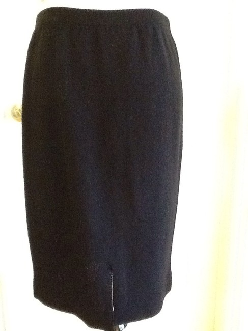 sieve fabricant neiman marcus 75% Wool 25% Rayon Dryclean Only Made In Usa Skirt black Image 3