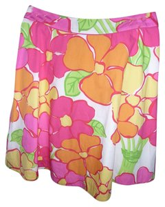 Lilly Pulitzer Skirt Multi-colored; Fuscia, Yellow, Green, Tangerine and White