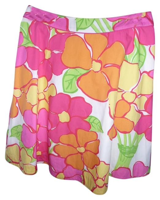 Preload https://img-static.tradesy.com/item/20230335/lilly-pulitzer-multi-colored-fuscia-yellow-green-tangerine-and-white-floral-knee-length-skirt-size-0-0-2-650-650.jpg