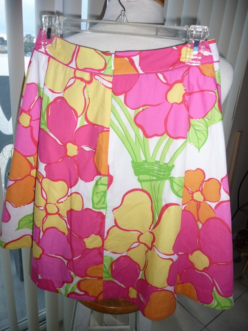 Lilly Pulitzer Skirt Multi-colored; Fuscia, Yellow, Green, Tangerine and White Image 1