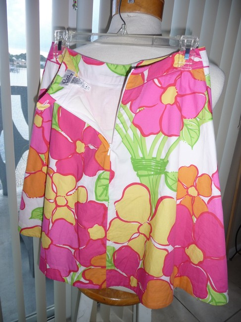 Lilly Pulitzer Skirt Multi-colored; Fuscia, Yellow, Green, Tangerine and White Image 2