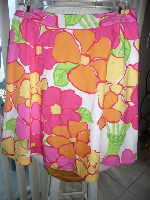 Lilly Pulitzer Skirt Multi-colored; Fuscia, Yellow, Green, Tangerine and White Image 4