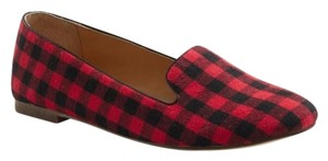 J.Crew Holiday Winter Flat Plaid Red Black Flats