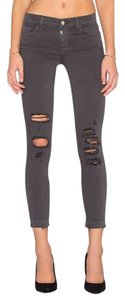 J Brand Cropped Distressed Skinny Jeans-Distressed