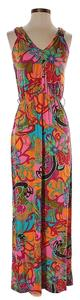 Maxi Dress by Trina Turk Print Psychadelic Bright Floral
