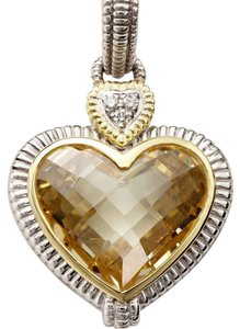 Judith Ripka citrine Heart with Diamond