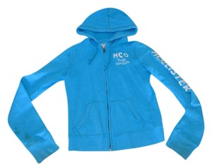 Hollister Hooded Zip Up Fall Cute blue Jacket