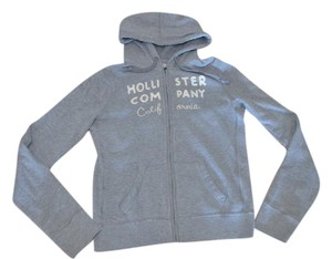 Hollister Hooded Zip Up Cute Sale grey Jacket
