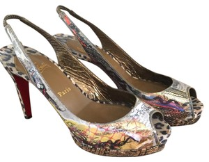 Christian Louboutin Multi and gold Pumps
