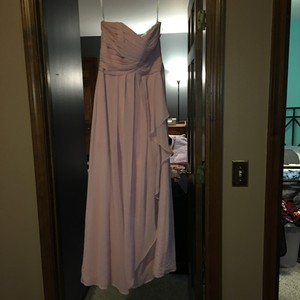 David's Bridal Rose Pink Dress