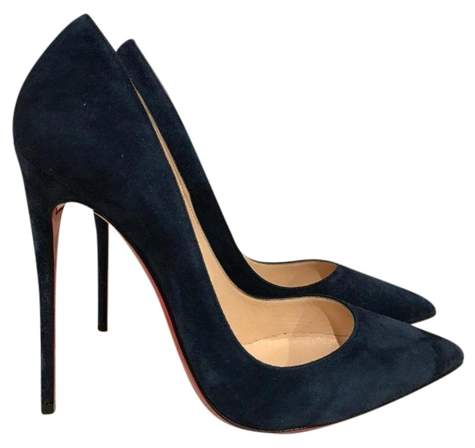 91b46d08ec58c3 Christian Louboutin Blue So Kate 120 Navy Night Suede Classic Heel 36 Pumps