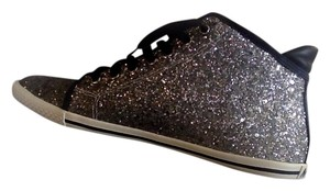 Marc by Marc Jacobs High Top Sneaker Silver Glitter Athletic