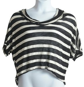 Rue 21 Horizontalstripes Slouch Top Black And White