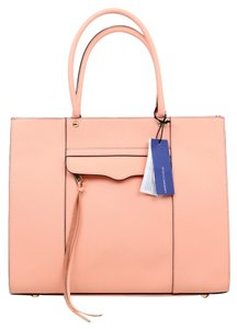 Rebecca Minkoff Leather Tassle Tote in Pink