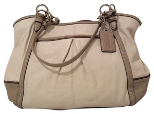 Coach Dust Tote in Off White and Beige