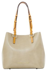 Dooney & Bourke Tote in Taupe / Hot Pink