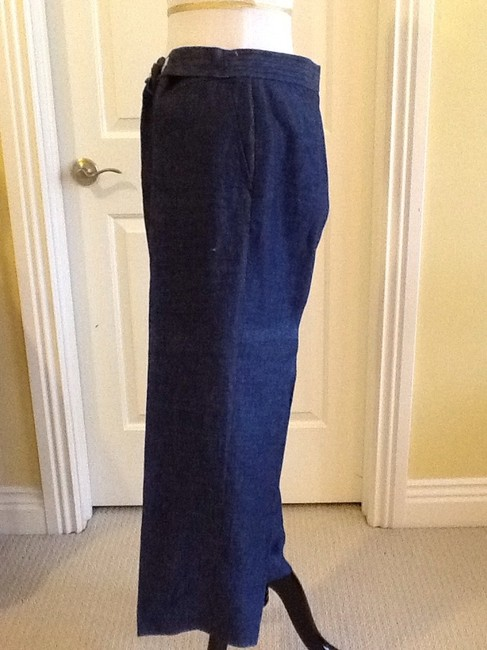 Lafayette 148 New York Made In China Linen Dry-clean Machine Washable Relaxed Pants blue Image 6