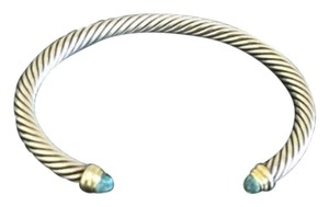 David Yurman David Yurman Cable Classic with blue topaz and 14k gold, 5mm