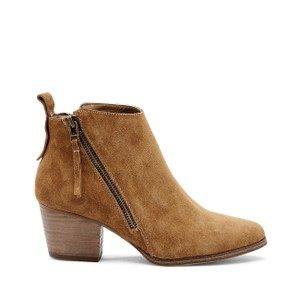 Sole Society Suede Tan Leather Cognac Boots