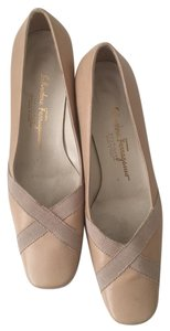 Salvatore Ferragamo Nude/tanned Pumps