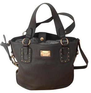 Michael Kors Leather Studded Light Gold Hardware Tote in Gray